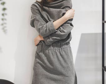 Wool dress. Cozy and stylish. Worm winter dress made from wool.
