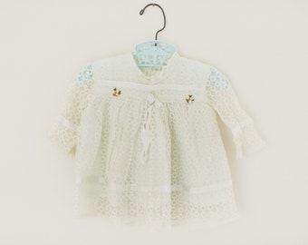Vintage Lace Baby top, 1950s Baby Clothes, Vintage Lace, Vintage Baby Clothes