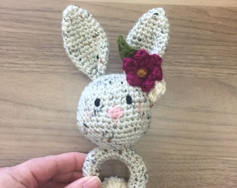Crochet Bunny Rabbit Rattle