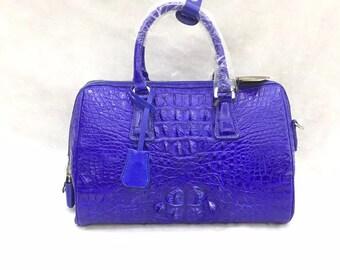 Crocodile bag, woman bag, blue bag, luxury bag