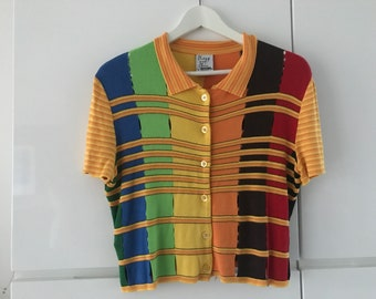 Moschino Cheap and Chic jersey | colorful top | Designer cardigan | Moschino cardigan | size S/M