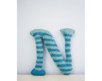 Knitted Letter N Knitting Pattern (803497)