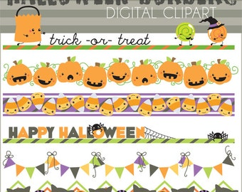 Halloween Clipart Halloween Borders -Personal and Limited Commercial Use- Cute Halloween Clip Art
