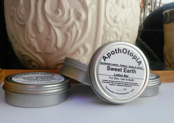 Hand & Body Lotion Bar - Solid Lotion Balm, Old Fashioned, Non Greasy, Moisturizer, Body Cream, Foot Cream, Eco Friendly, Sustainable