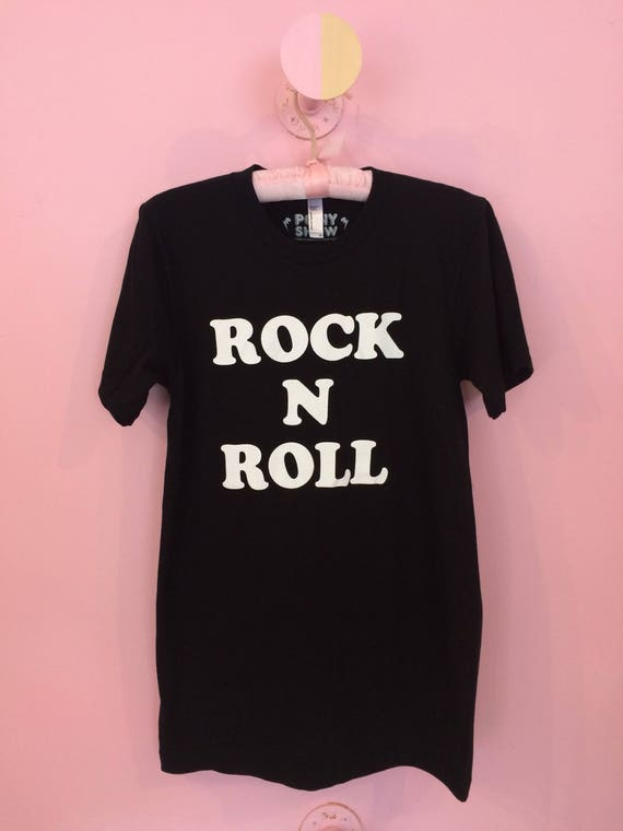 Rock n Roll unisex adult tee