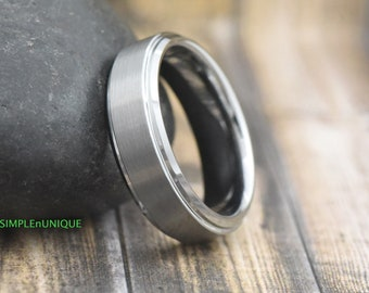 7MM Tungsten Ring, Mens Promise Ring, Tungsten Men's Wedding Band, Man's Engagement Ring, Mens Wedding Band, Tungsten Carbide Ring, For Him
