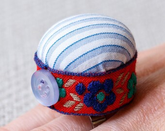 Upcycled Pincushion Ring in a gift box