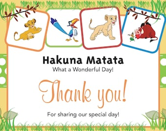 Lion King Thank you card