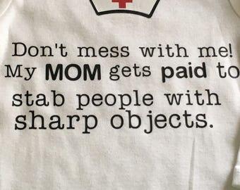 Nurse's baby bodysuit