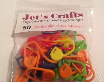 Pack of 50 Locking Stitch Markers for Crochet or Knitting.