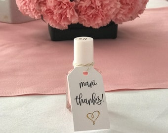 Mani Thanks - Nail Polish party favor for Baby shower, Bridal shower or Birthday
