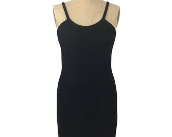 Vintage 1980 ' s mini robe en tricot Saint-Jean / Saks Fifth Avenue / noir Santana tricot / / vintage femmes robe / taille medium