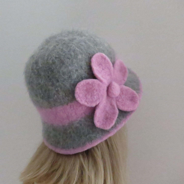 Felted Hat Pattern #201 Downton Cloche, Felt Hat, Knitting Pattern ...