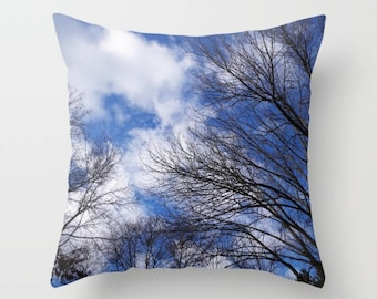 Reaching for the clouds throw pillow, pillow cover, decorative throw pillow, nature inspired living room decor, Christmas gift for her