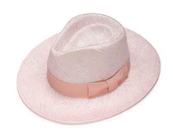 Pink fashionable fedora straw hats with cotton band , Straw hat for women , Summer hats , Straw hat , Sun hat , Beach hat, Boho chic hat