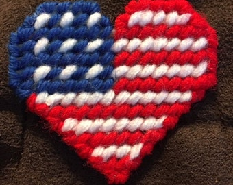 Patriotic Heart Pin