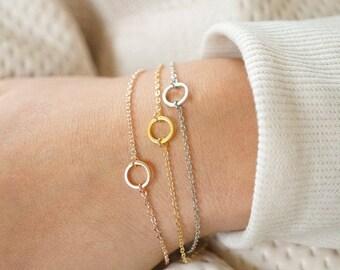 Karma Bracelet, Friendship Bracelet, Mother & Daughter, Rose Gold, Gold, Silver, Circle, Best Friend, Going Away, Birthday Gift, Bridesmaids