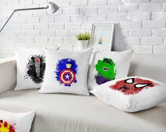 Charming Marvel Superheros Pillowcase, Marvel Superheros Cushions, Marvel Superheros Home  Decor, Marvel Superheros Gift