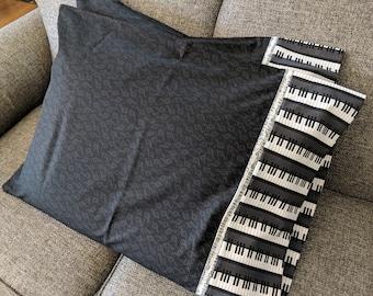 Piano Keys, Music, Musical Instruments, Music Notes, Music Pillow Case, Music Pillow Cover, Music Keyboard, Keyboard Pillow