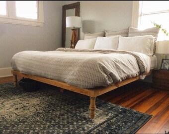 The Wylee Fox Platform Bed (platform bed, king bed frame, rustic bed, wood bed, bed frame with legs, platform bed frame)