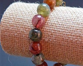 dragon vein agote bead bracelet