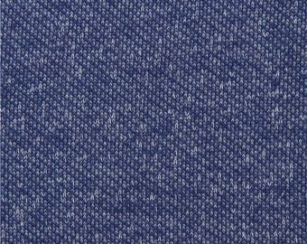 218113 dark blue single color knit fabric from Japan