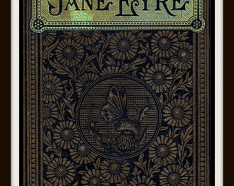 Jane Eyre Book Cover Print - Jane Eyre Poster Charlotte Bronte - Jane Eyre Print - Literary Print - Book Cover Art - Library Decor