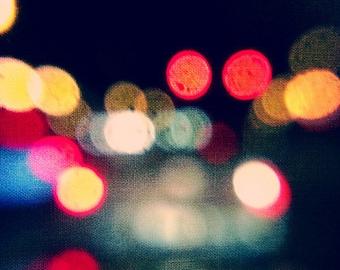 bokeh, lights, night, fine art photography