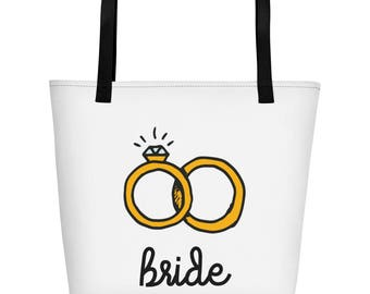 Bride Wedding Party Beach Bag