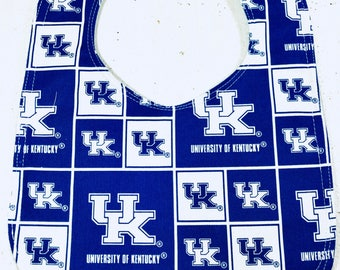Kentucky Baby Bib - football- basketball- infant bib  - dribble bib - wildcats - handmade - University - baby girl - baby boy - baby gift