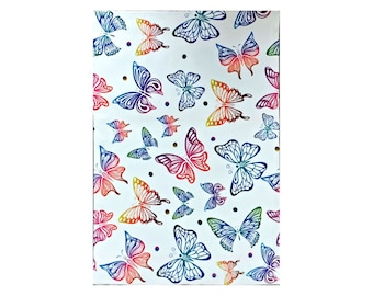 """10x13"""" Rainbow Butterfly FLAT POLY MAILERS Postal Approved Mailers   (50 Pack)"""