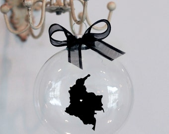 Colombia Christmas Ornament.  Custom, Adoption, Travel, Mission
