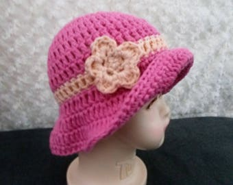 Handmade crochet cotton summer baby hat