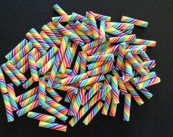 10pc. Rainbow Candy Sticks