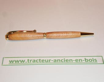 PEN in saturated naturally resin pine knots