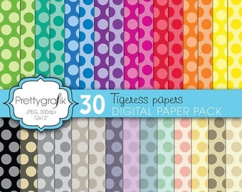 80% OFF SALE polka dot digital paper, commercial use, scrapbook papers, background  - PS607