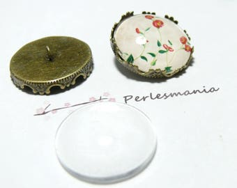 20 pieces: 10 buttons sewing Crown BR and 10 cab 20mm