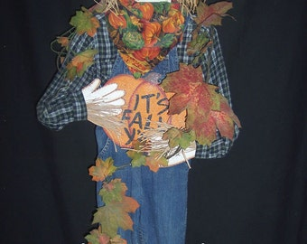 """E Pattern, 43"""" Scarecrow Wood Pattern Packet, Halloween, Scarecrow, Fall, Harvest, Crow, Sign, Photo Prop, Clothing"""