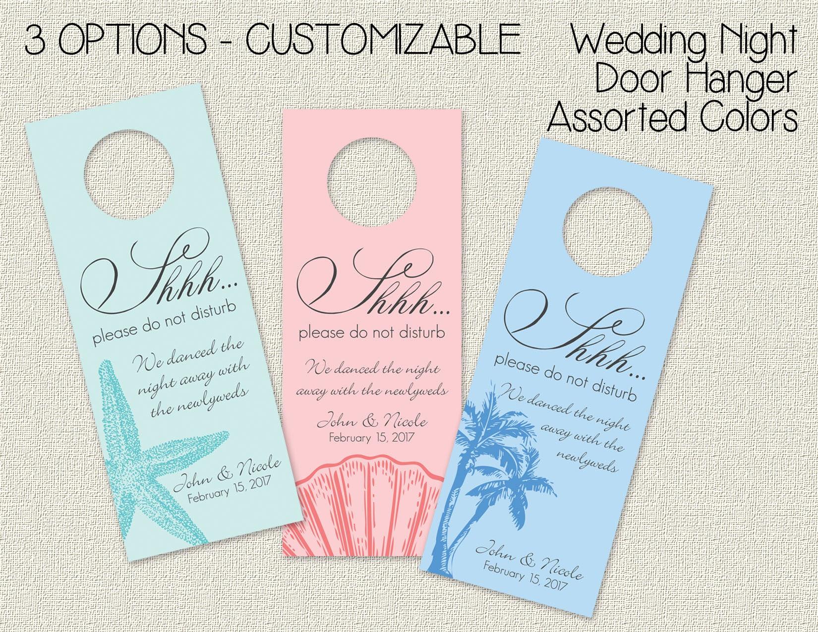 Beach Wedding Door Hangers Personalized Door Hanger Tags for