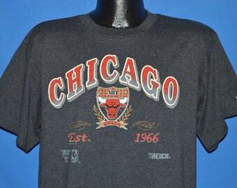 90s Chicago Bulls Striped t-shirt Large