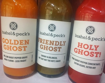 Ghost Pepper Hot Sauce - The Ghost Pepper Trinity! Holy Ghost, Friendly Ghost and Golden Ghost