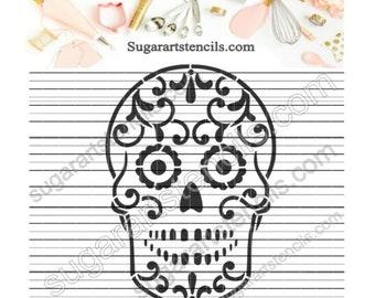 Sugar skull Cookie stencil Day of the dead dia de los muertos AV00167