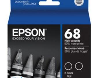 Epson DURABrite T068120-D2 Ultra 68 High-capacity Inkjet Cartridge Multipack - 2