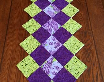 Lilac Table Runner - Handmade Table Runner- Floral Table Runner-  Spring Table Runner - Table Decor- Easter, Mother's Day,  Purple