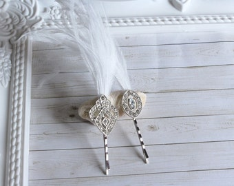 Geometric wedding hair pins | Great Gatsby bridal hair pins crystal hair pins art deco hair pins roaring 20s downton abbey for bridesmaid