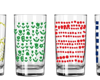 NEW Juice Glasses, 1 Set of 4 (you choose your set)