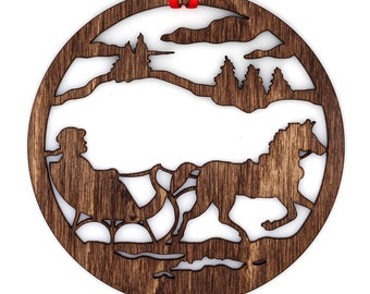 Wooden Sleigh Ride Ornament