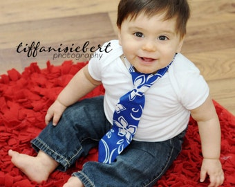 Toddler Necktie Baby Tie Tropical Blue Boy's Tie