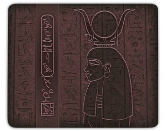 Mousepad Hathor - personalized with your name in hieroglyphs