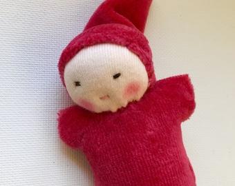 Waldorf doll, handmade toys, organic natural fiber doll, Bunting doll, Waldorf pocket doll, gift for kids